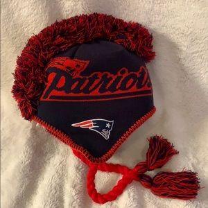 Youth Mohawk style Patriots stocking cap